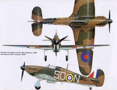 2- Le Hawker Hurricane
