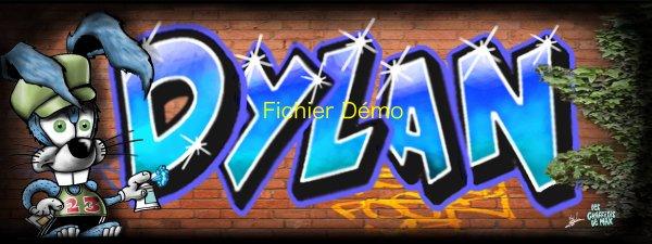 Graffiti tag pr nom dylan bienvenue dans mon univers - Prenom en tag ...