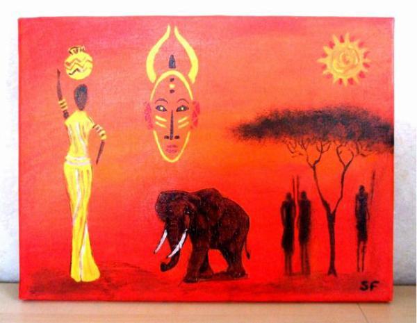 Afrique blog de sylvie - Tableau acrylique facile ...