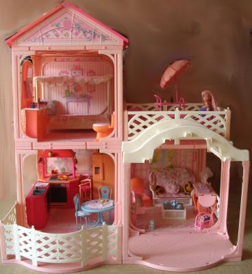 maison de r ve barbie a vendre. Black Bedroom Furniture Sets. Home Design Ideas