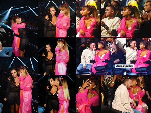 """'''""""28.08.16''' ─ Ariana G. s'est rendue à la cérémonie des MTV Video Music Awards qui avait lieu dans  New-York. Durant la cérémonie, la Ariana a pris la pose avec plusieurs célébrités, dont Kim Kardashian. Vous pouvez d'ailleurs découvrir les photos ci-dessous ![/alig fen]"""