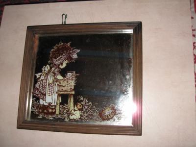 Cadre miroir sarah fait la lessive le petit monde de for Sarah riani miroir miroir