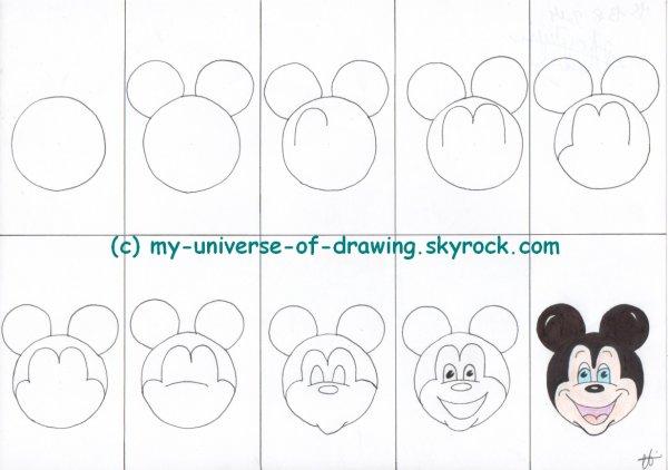 Tuto dessin mickey - Apprendre a dessiner mickey ...