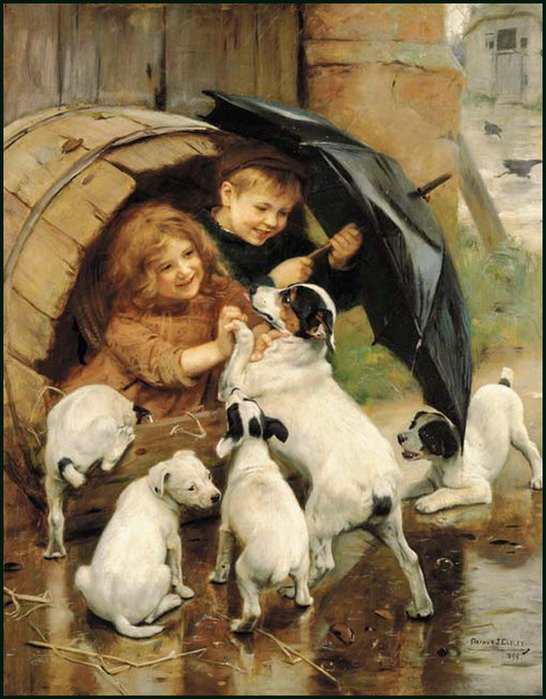 Arthur john elsley peintre anglais 1860 1952 il y a for Artiste peintre anglais