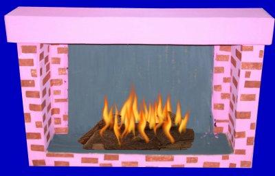 La chemin e de noel les bohneurs de nathalie - Fausse cheminee en carton pour noel ...