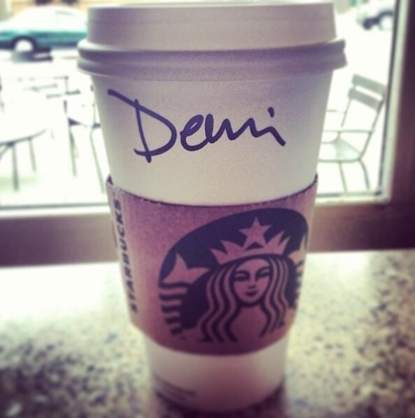 Demi & Starbucks