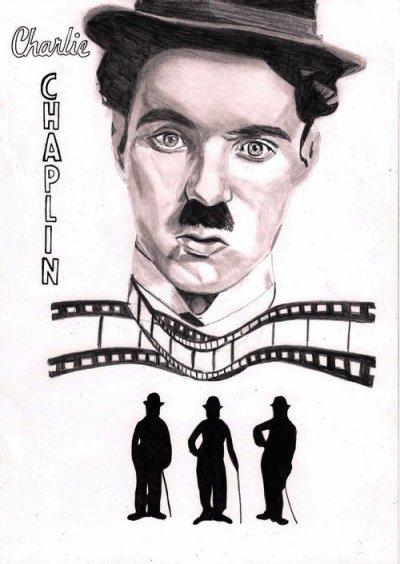 Dessin Charlie Chaplin