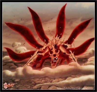 Naruto demon renard 6 queu naruto - Coloriages naruto demon renard ...