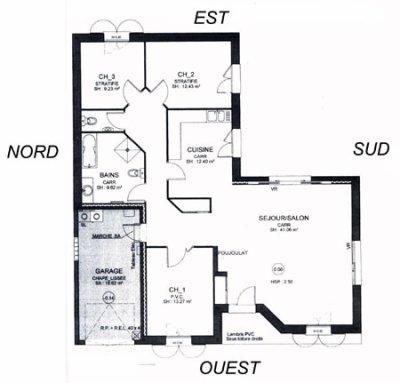 L 39 orientation d 39 une maison bioclimatique peuple dauphin for Maison bioclimatique plan