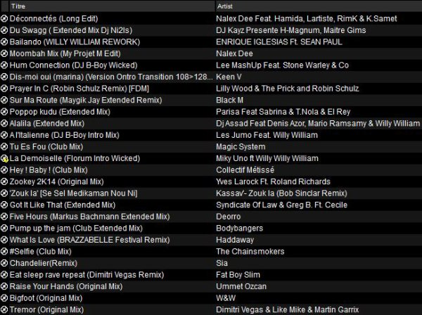 Mix Club Septembre 2014