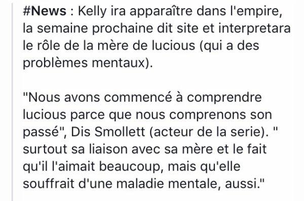 News : kelly rowland son role dans la saison Empire