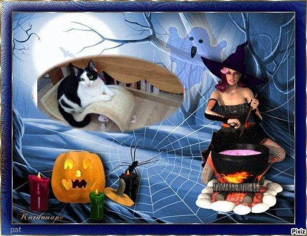 Cadeau de Laika, trop belle ma petite Marilou, et c'est bient�t Halloween, j'adore......