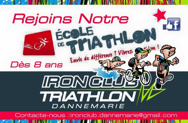 Inscription IRON CLUB DANNEMARIE TRIATHLON saison 2015/2016
