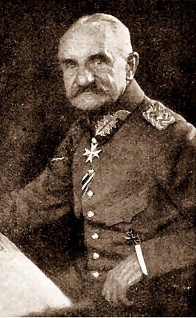 Personnages important pendant la bataille de la somme : F. von Below