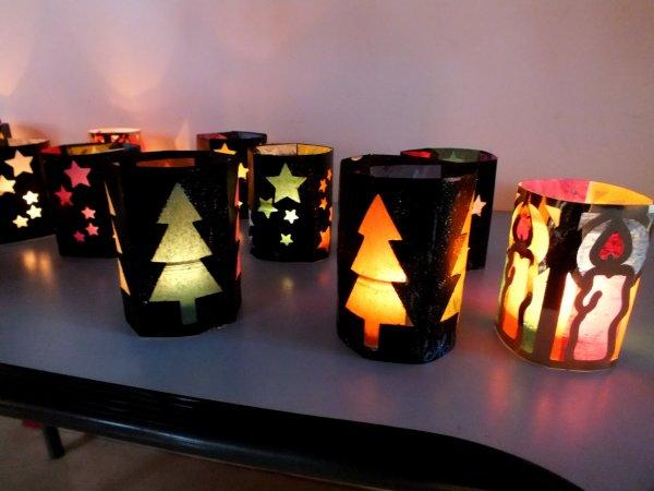 Ce matin,Fabrication de lanternes de no u00ebl, ensuite d u00e9co u00e0