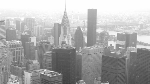 New york. (Pris depuis l'Empires States Buildings)