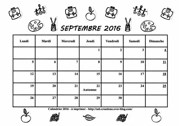 le moi de septembre