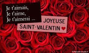 joyeux saint Valentin je vous aime