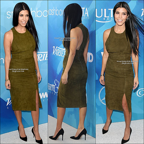 """19/11/15 : Kourtney lors de l'évènement """"WWD And Variety Stylemakers"""" à Culver City à Los Angeles.Notre petite aînée Kardashian préférée était tout simplement somptueuse et avait son meilleur accessoire : son sourire  POSTED BY CINDY ON NOVEMBER 21TH 2015"""