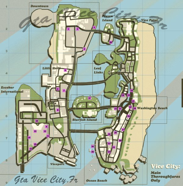 GTA : Vice City Les Sauts uniques