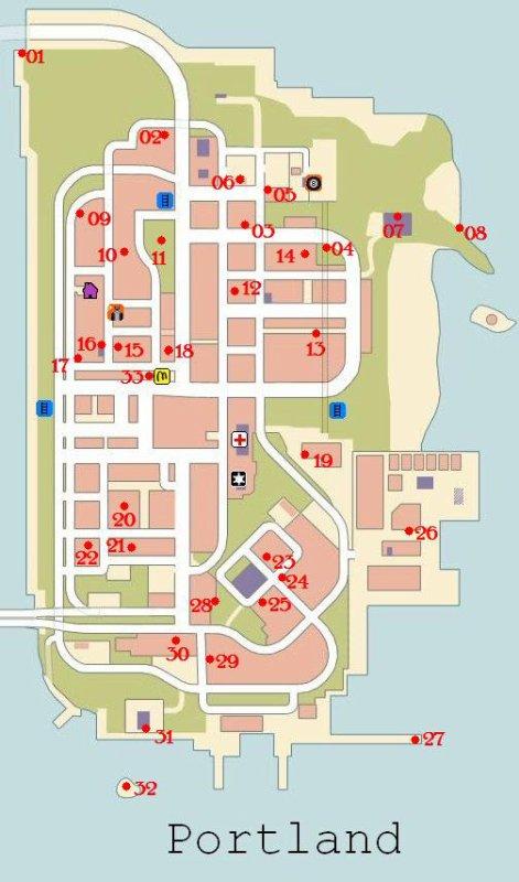 Les Paquets Cachés de GTA 3
