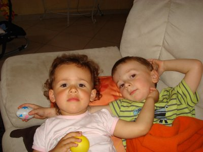 Mon cousin Baptiste et moi!
