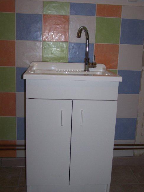 Bac laver pos bienvenue chez nous for Meuble buanderie avec bac a laver