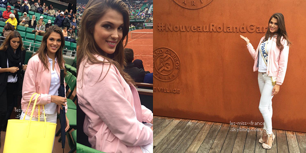 02 juin 2016 iris et sylvie taient roland garros miss france. Black Bedroom Furniture Sets. Home Design Ideas