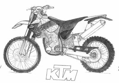 Moto cross dessins - Dessin de moto facile a faire ...