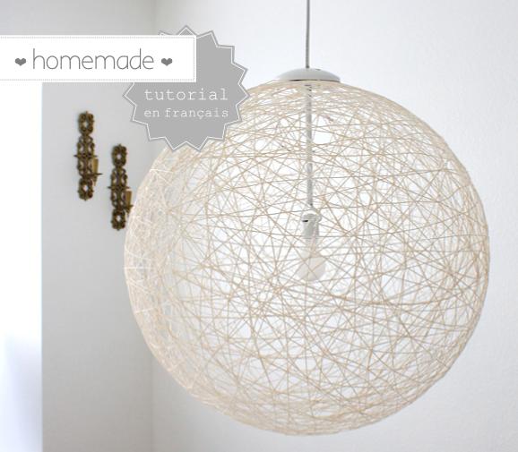 diy 2 l 39 abat jour boule en laine blog diy. Black Bedroom Furniture Sets. Home Design Ideas