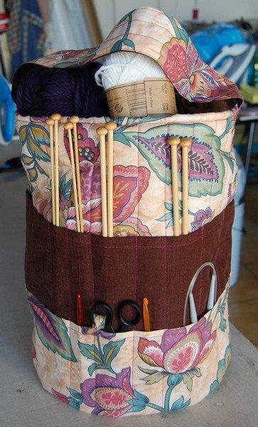 Tuto sac tricot rangement aiguilles blog de aupaysdutricotdespoupees - Tuto sac tricot en tissu ...