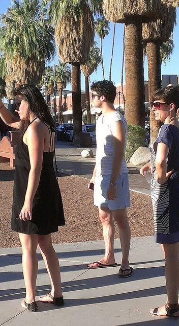 Darren & Mia (sa copine) au Labor Day at Palm Springs