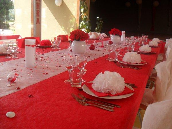 Décoration mariage rouge et blanc - La déco de Marie