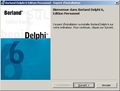 Télécharger Delphi 6 Edition personnelle ( gratuit )