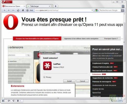⇩ Télécharger Opera 11 disponible en version finale ( gratuit )