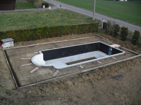 Samedi 17 et dimanche 18 mars ferraillage de la - Ferraillage piscine beton ...