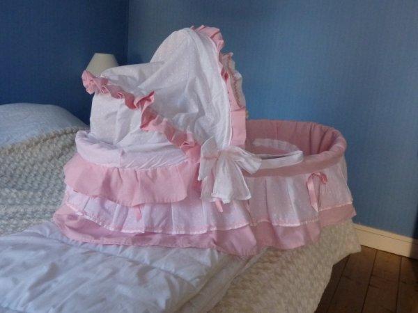 habillage d 39 un berceau en osier blog de poupounette76125. Black Bedroom Furniture Sets. Home Design Ideas