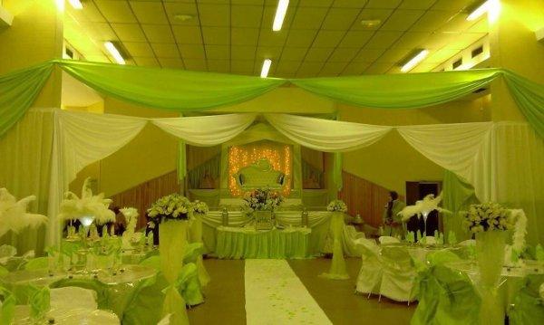 Mariage vert blanc n even 39 t decor - Decoration de table mariage vert et blanc ...