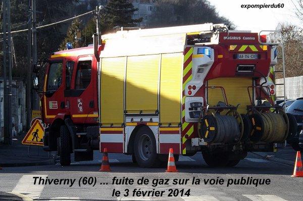 THIVERNY (60) ... FUITE DE GAZ V.P ... LE 3 FEVRIER 2014