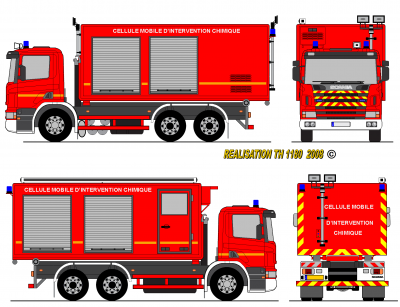 Scania p94 pompiers cellule chimiques france prototype world secours paint - Comment dessiner un camion de pompier ...