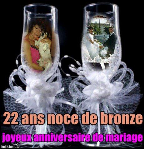 L noce de bronze l i love you pilou - Anniversaire de mariage noce ...