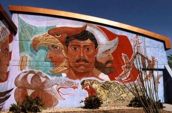 Chamizal murals el paso texas el ombligo de la luna for Blood in blood out mural location