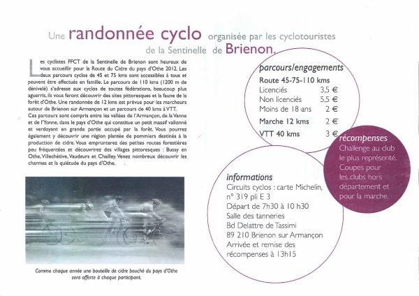 La Route du Cidre (juillet 2012) 1/2: Appel + CR VTT