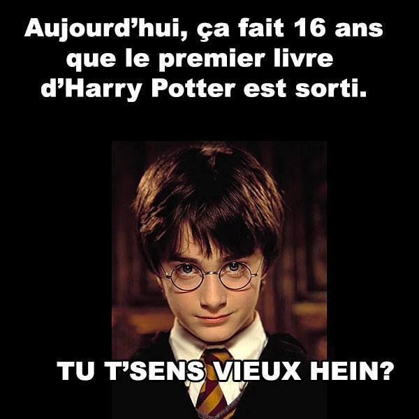 Le premier livre d'Harry Potter est sorti il y a exactement 16 ans.