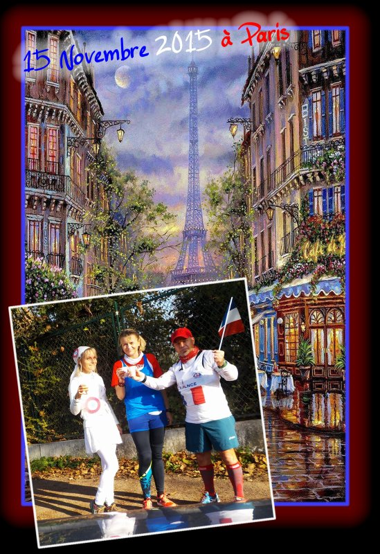 Footing Paris en Bleu, Blanc, Rouge ..�pisode 1..