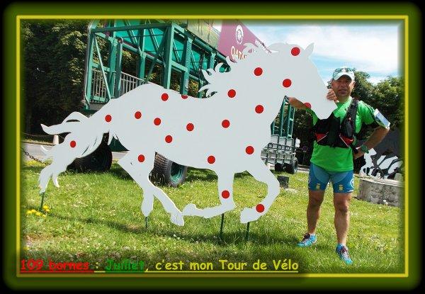 109 bornes : Juillet, c'est mon Tour de Vélo.