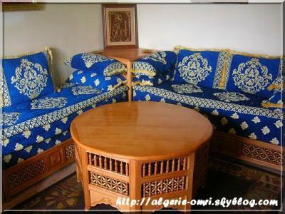 Un salon algerien alg rie24000 bl di mon amour for Salon algerien