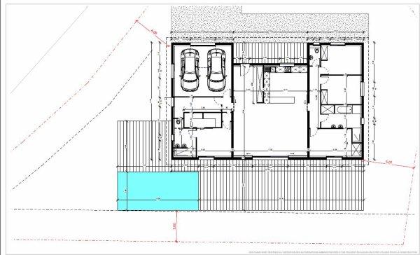 immobilier plan de maison en u avec piscine. Black Bedroom Furniture Sets. Home Design Ideas