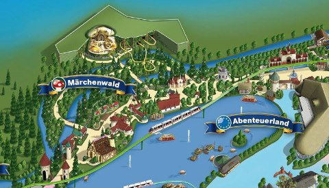 Arthur The Ride : Plan du parc