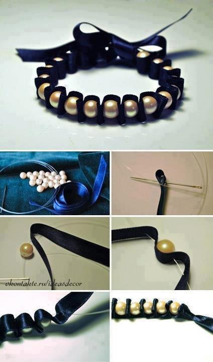 tuto bracelet et en perle et tissu pti conseil pour ado. Black Bedroom Furniture Sets. Home Design Ideas